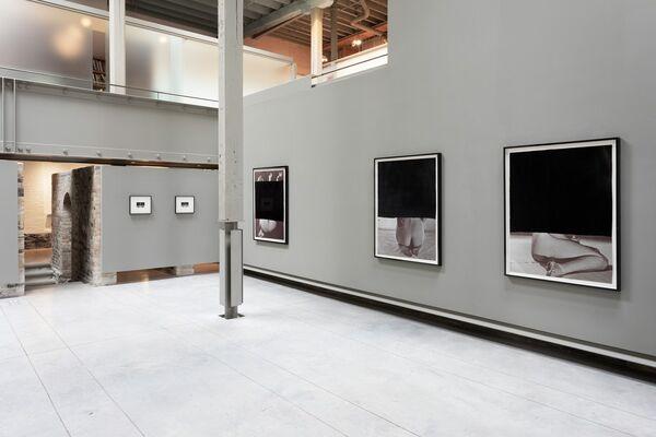 Sondra Meszaros: two blazing glares, for her pierce, installation view