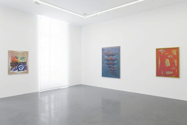 "Zach Harris ""Purple Cloud"", installation view"