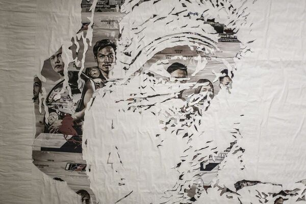 Debris | A solo exhibition by VHILS, installation view