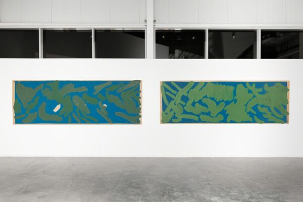 Pierre Dunoyer: Vers le tableau, installation view