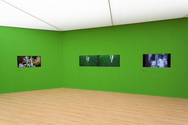 Not Early Not Late, installation view