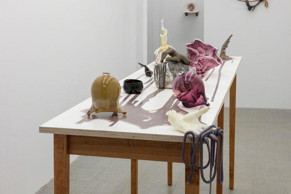 Kelly Akashi: &, installation view