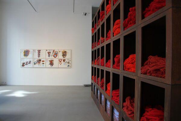 Vienna_AAA: Blickpunkt:Zeichnung - FABRIZIO PLESSI Project Drawings, installation view