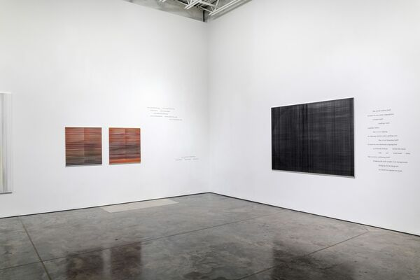 Anne Lindberg and Ginny Threefoot - broken-riddle piece, installation view