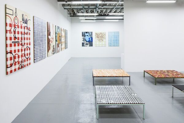 Richard Woods: Work Tables, installation view