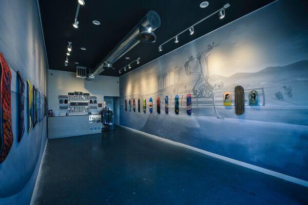 Ewkuks presents Art-Chemists SK8 Show, installation view