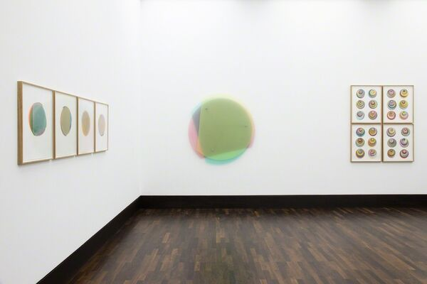 """Beat Zoderer - """"schön bunt hier"""", installation view"""