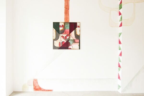 tilted surface, installation view