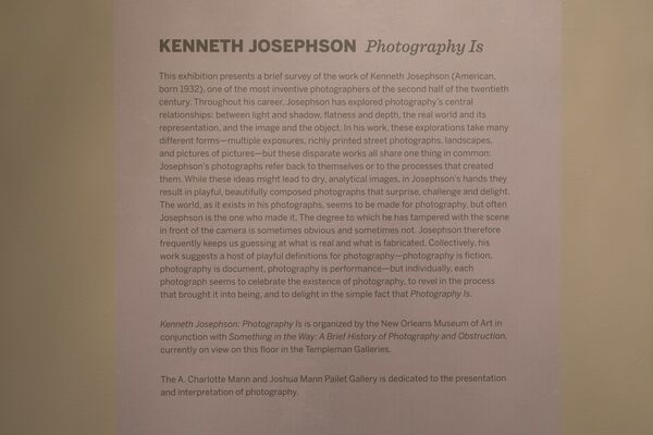 Kenneth Josephson: Photography Is, installation view