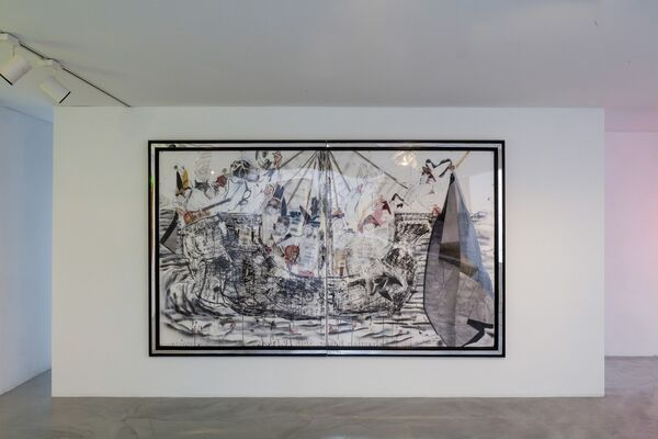 Joris Van de Moortel - This incomplete mythical world whose perfection lay outside it, installation view