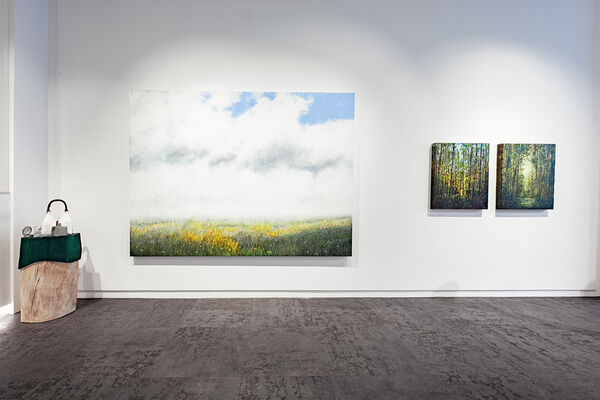 An artist couple, installation view