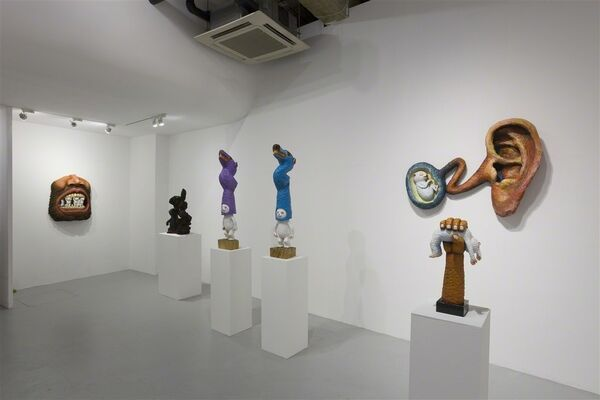 Sculpture | Painting - portrait of an invisible man, installation view