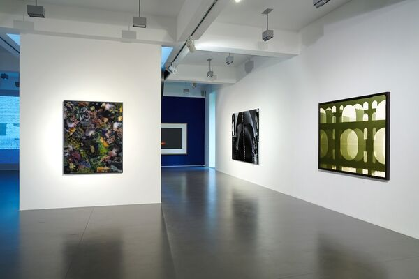 """Katlen Hewel, Axel Hütte, Ola Kolehmainen, Martina Wolf """"THERE WILL BE LIGHT"""" curated by Axel Hütte, installation view"""