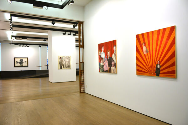 Solitude is deceiving. Carmen Calvo / Sergio Sanz / Antonio Saura, installation view