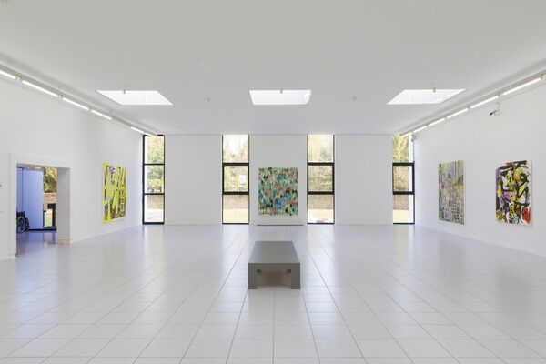 Charline von Heyl — Snake Eyes, installation view