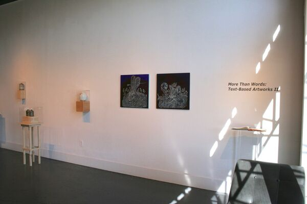 More Than Words: Text-Based Artworks II | SA, installation view