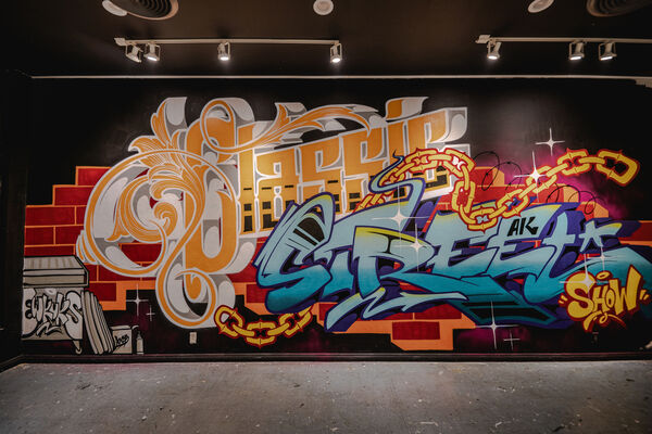CLASSIC STREET - a solo show and collaboration by Rise One, installation view
