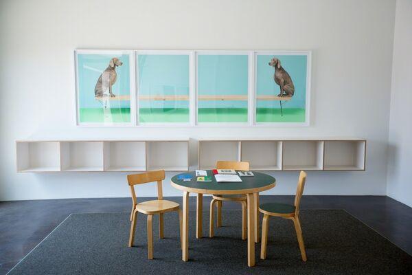 William Wegman: Good Dogs on Nice Furniture, installation view