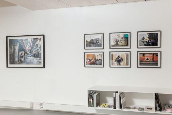 """Ernest Pignon-Ernest // """"Si je reviens"""" : Pasolini Assassiné, installation view"""