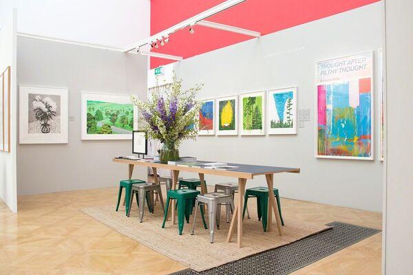 Lyndsey Ingram at London Original Print Fair 2019, installation view