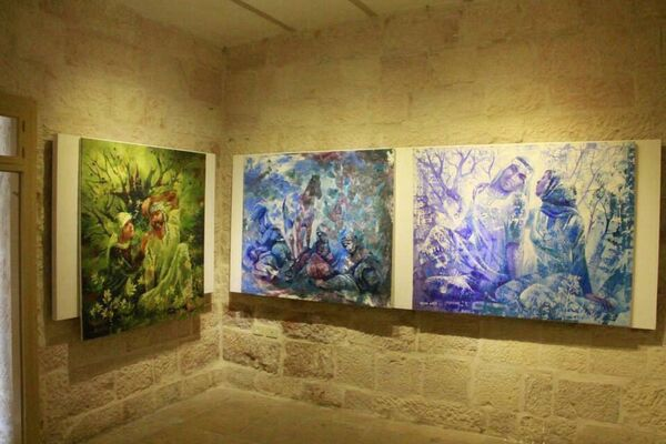 Blue Spring Memory, installation view