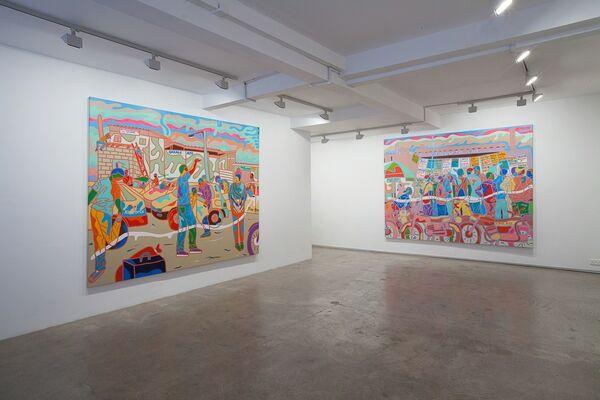 Ajarb Bernard Ategwa, 24 Hours Busy, installation view