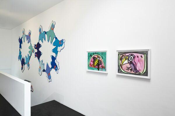 GIRL MEETS GIRL - Katherine Bernhardt, Katherine Bradford, Caroline Wells Chandler, Rose Wylie, installation view