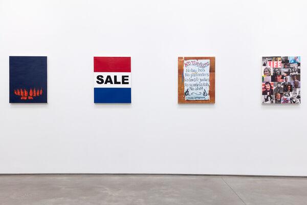 "Michael St. John, ""Democracy Portraits"", installation view"