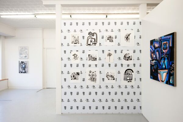More, installation view