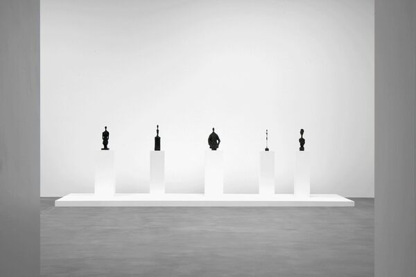 Substance and Shadow: Alberto Giacometti Sculptures and their Photographs by Peter Lindbergh, installation view