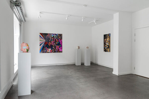 Both Hands on the Wheel, installation view