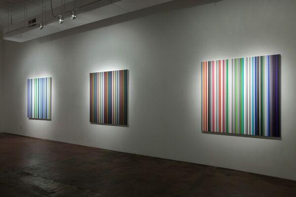 COLOR : Paintings by Gabriele Evertz, Robert Swain and Sanford Wurmfeld and VANITAS: Paintings by Matthew Deleget, installation view