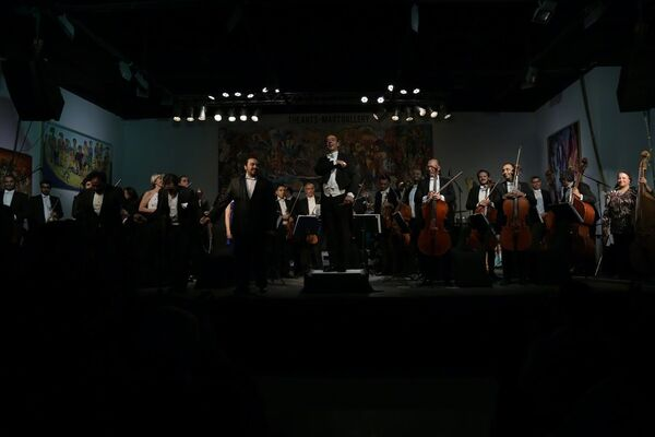 Orchestra In Art: The Three Egyptian Tenors, installation view