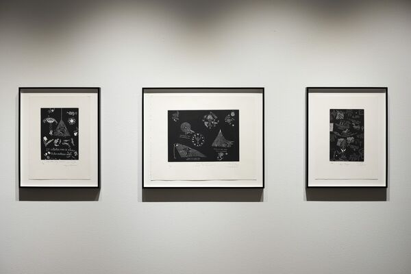 Art of the Pacific: A Selection of Etchings by John Pule, installation view