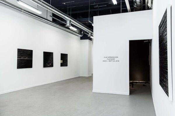CLAY APENOUVON, FILM NOIR, installation view