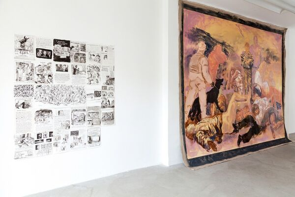 Europaeische Werte (engl. European Values), installation view
