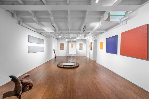Where the unmeasurable meets the measurable. Alan BEE, Paolo IACCHETTI, Tomas RAJLICH, Nanni VALENTINI, installation view