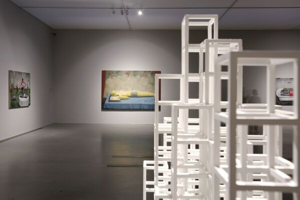 Group Exhibition: Sol LeWitt and Zhang Xiaogang, installation view