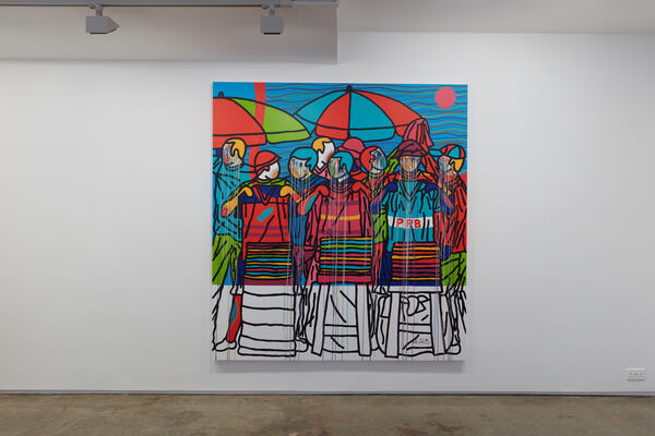 Ajarb Bernard Ategwa, Morning Bread & Jazz, installation view