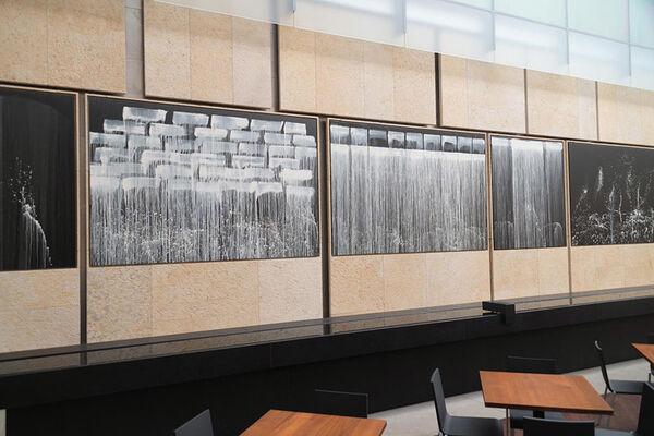 Pat Steir Silent Secret Waterfalls:  The Barnes Series, installation view