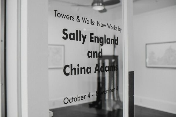Towers & Walls: New Works by Sally England and China Adams, installation view