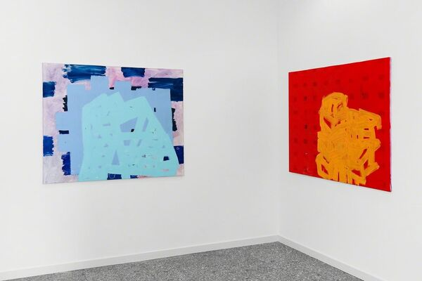 rot – blau, installation view