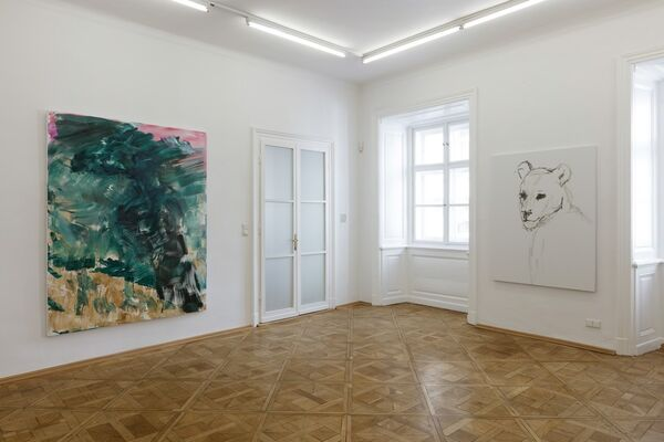 HERBERT BRANDL Der Regen, installation view