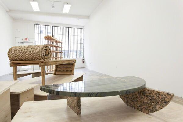 Primitive Hut, installation view