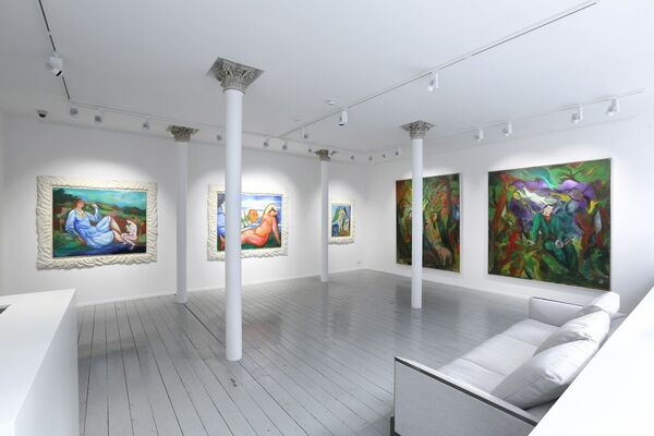 Sandro Chia: I Think Therefore I Paint, installation view