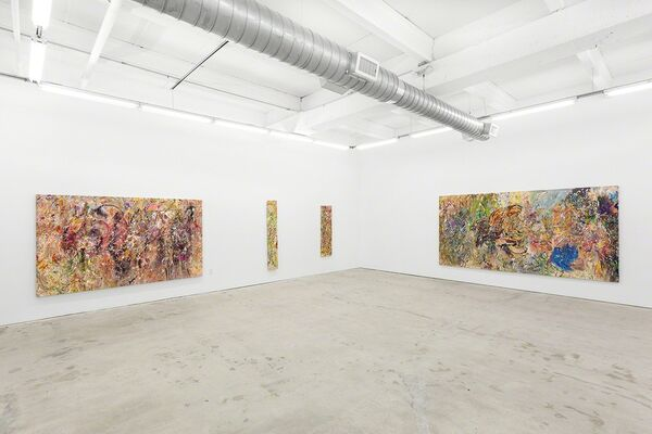 Larry Poons, installation view