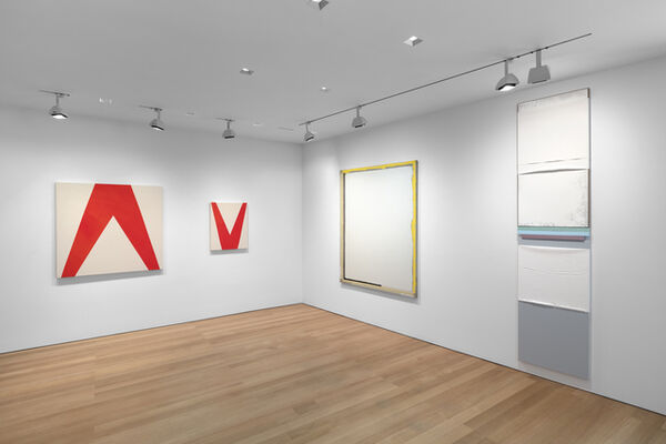 Painting/Object: Sarah Crowner, N. Dash, Sam Moyer, Julia Rommel, Erin Shirreff, installation view