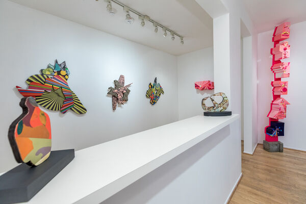 A Journey Through Abstract Reciprocal Perspectives from the Terrestrial to the Architectonic Orbital, installation view