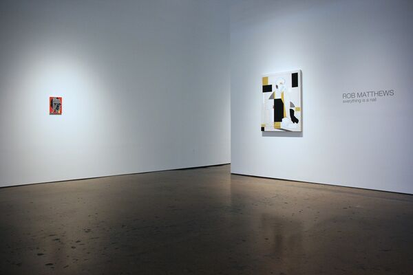 """ROB MATTHEWS """"Everything is a Nail"""", installation view"""