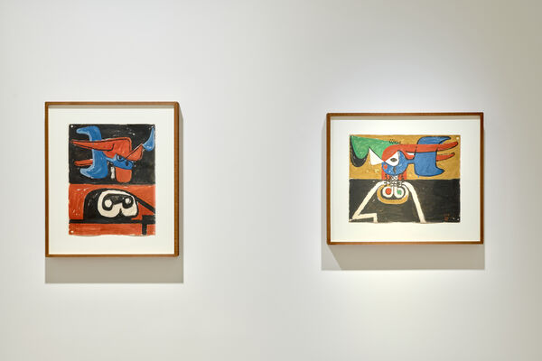 The World of Le Corbusier: Collages and Drawings, installation view